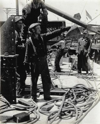 Collection of Photographs Documenting Ship Construction at the Port of Los Angeles by the Emergency Fleet Corporation, 1918