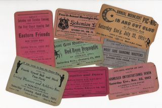 A Collection of Tickets to Dances and Related Social Events Held in Chicago, 1911-1921