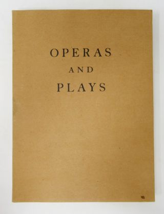 Operas and Plays