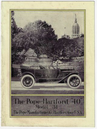 "The Pope-Hartford ""40"" Model 31. TRADE CATALOGUE"