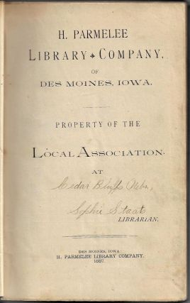 Parmelee Library Company Edition of Life in the Wilds of America and Wonders of the West in and Beyond the Bounds of Civilization