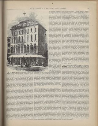 Pennsylvania Historical Review, Gazetteer, Post-Office, Express, and Telegraph Guide. City of Philadelphia. Leading Merchants and Manufacturers.