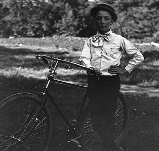 Collection of Glass Plate Negatives of Cyclists and Racing in Oxford County, Maine at the Height of the American Bicycle Craze