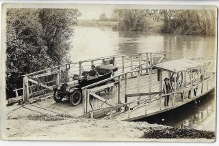 Real Photo Postcard of the Ferry at Meridian, California, ca. 1912. SUTTER COUNTY