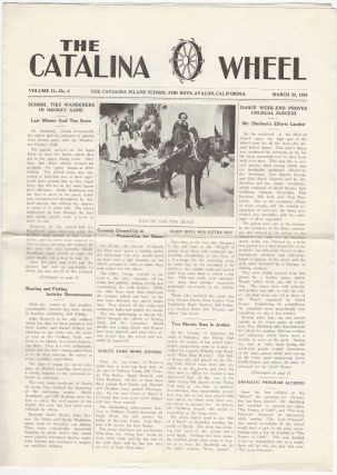 Four Issues of The Catalina Wheel, 1933-1935. CATALINA ISLAND SCHOOL FOR BOYS