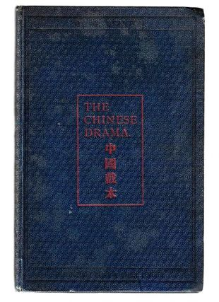 The Chinese Drama. William Stanton