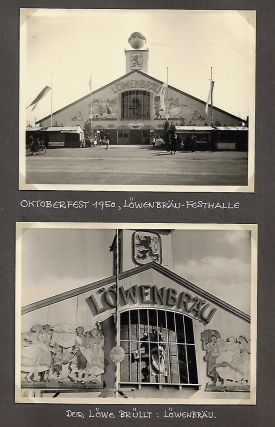 Commemorative Photograph Album of Löwenbräu Beer Halls in Post-War Germany (1945-1952). GERMANY