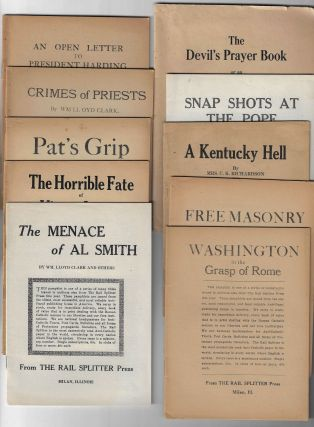 Collection of Sixteen Anti-Catholic Pamphlets from the Rail Splitter Press, ca. 1920-1935....