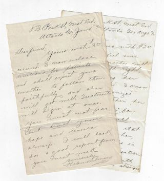 Two Autograph Letters Signed by Journalist and New Thought Writer Helen Wilmans, Who is Being...