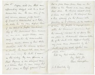 Wade Hampton Autograph Letter Signed, Discussing Democratic Party Politics Before the Election of 1880