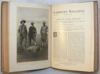 African Game Trails, An Account of the African Wanderings of an African Hunter-Naturalist [True First Appearance, Serialized in Scribner's Magazine]