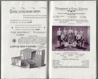 Official Programme, The Circus Maximus of Caesar Augustus Reproduced by the Sacramento Athletic Club at the California State Fair, Sept. 4th to Sept. 16th, 1893