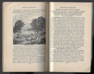 Saratoga Illustrated: The Visitor's Guide to Saratoga Springs. Containing descriptions of the routes of approach, hotels, institutions and boarding houses, mineral springs....with a brief history of the springs and village