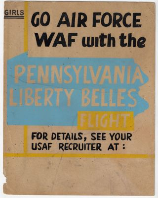 Girls Go Air Force WAF with the Pennsylvania Liberty Belles. WOMEN IN THE MILITARY, PENNSYLVANIA