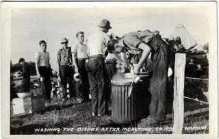 Collection of Real Photo Postcards of a CCC Camp in or near Wabasha, Minnesota