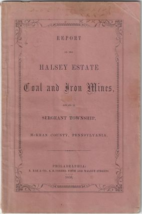 Report on the Halsey Estate Coal and Iron Mines Situate in Sergeant Township, McKean County, Pennsylvania
