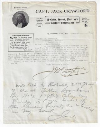 Typed and Autograph Letter Signed to William Hornaday, Enclosing a Publicity Circular with...