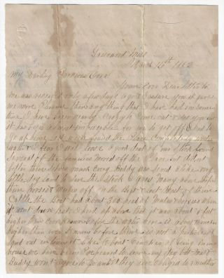 Manuscript Letter Describing the Aftermath of the Great Mississippi River Flood of 1882....