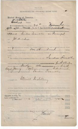 "Legal Document Regarding a ""Black Indian"" Charged with Operating an Illegal Distillery and Later Lynched by a Mob"