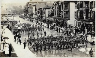 "Photo Album Showing the ""Welcome Home Celebration"" for Soldiers in Newport, Vermont, 1919. WORLD..."