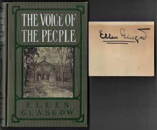 The Voice of the People [With Author's Signature Laid In]. Ellen Glasgow