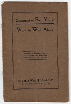 Statement of Four Years' Work in West Africa