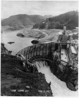 Presentation Album of Thirty Original Photographs of the Construction of Seattle City Light's Boundary Hydroelectric Project, 1963-1967