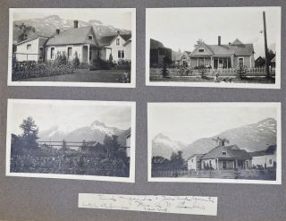 Photograph Album and Scrapbook of the Proprietors of the Renowned Blanchard Garden in Skagway, Alaska, including a Visit from President Warren G. Harding