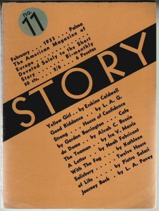 Story, The Only Magazine Devoted Solely to the Short Story, February 1933, Vol. II, No. 11. Whit...
