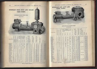 Catalogue J. Illustrated Catalogue and Price-List of Advance Packing & Supply Co. Manufacturers of and Dealers in Engineers' Mill & Mining Supplies, Steam & Power Pumps, Packings, Brass & Iron Goods