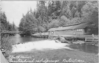 Collection of 185 Real Photo Postcards of Breitenbush Hot Springs, One of Oregon's Oldest Resorts, ca. 1910-1950
