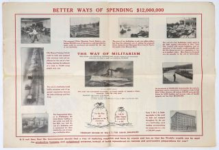 $12,000,000 War Expenditure and Peace Expenditure A Contrast