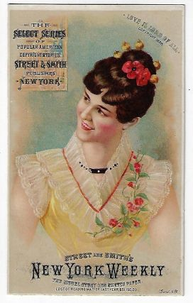 "Street & Smith Publishers' Trade Card, Advertising their ""Select Series"" of Dime Novels, 1888"
