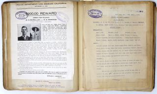 Album Containing 280 California Wanted and Reward Circulars Compiled by the San Francisco Police Department, 1909-1910, Many with Original Photographs