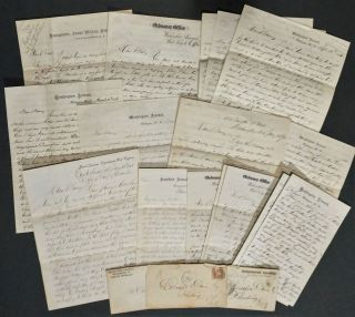 Fascinating Archive of Letters from Lieut. William Prince, U.S. Ordnance Corps, 1864-1872, Most...