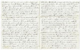Fascinating Archive of Letters from Lieut. William Prince, U.S. Ordnance Corps, 1864-1872, Most Written from the Washington Arsenal During the Civil War
