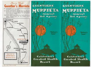 Guenther's Murrieta Mineral Hot Springs, California's Greatest Health Resort