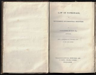 Law of Patronage and Settlement of Parochial Ministers