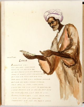 Sketches on the Nile: An Album of 43 Original Watercolors and Doggerel Verse Documenting a Nile...