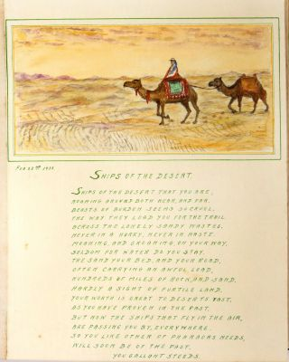 Sketches on the Nile: An Album of 43 Original Watercolors and Doggerel Verse Documenting a Nile Cruise in 1938
