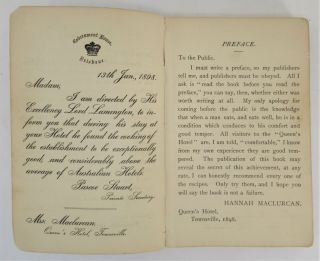 Mrs. Maclurcan's Cookery Book, A Collection of Recipes Specially Suitable for Australia