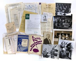 Archive of Photographs, Correspondence, and Ephemera Relating to the Career of Double Bass Player...
