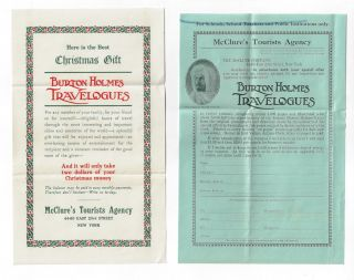 Marketing Materials for the Burton Holmes Travelogues
