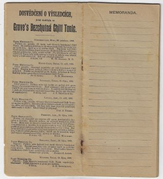 Multilingual Memo Book Advertising Products of the Paris Medicine Company, St. Louis