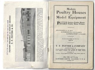 Modern Poultry Houses and Model Equipment, Potter Sanitary Poultry Houses, Portable Poultry House Fixtures