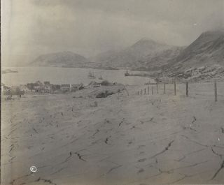 Panoramic Photograph of Kodiak, Alaska Covered in Ash after the Largest Volcanic Eruption of the 20th Century (June, 1912)