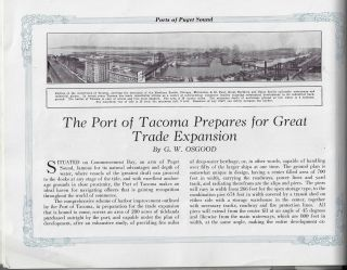 Ports of Puget Sound and Review of Northwest Industries