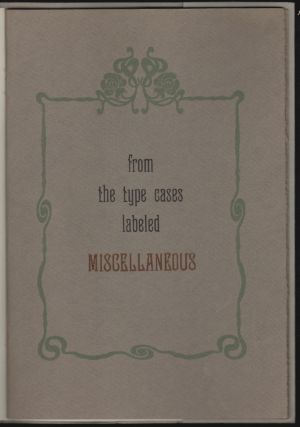 From the Type Cases Labeled Miscellaneous