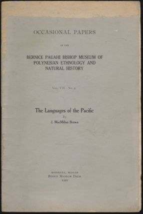 The Languages of the Pacific. J. MacMillan Brown, John