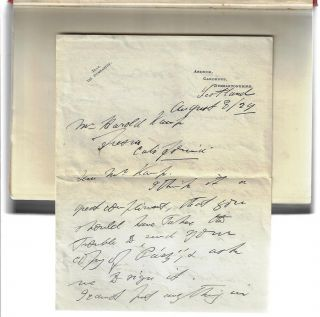 Jose Antonio Paez [Signed, with Autograph Letter Tipped In]
